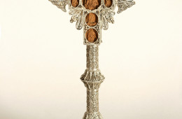 Altar cross (The Crucifixion and saints/the Virgin Mary among the saints)