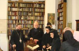 Pilgrims visiting the monastery
