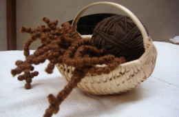 Basket of prayer ropes (2)