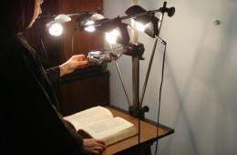 Photographing a manuscript (2)
