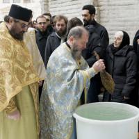 Sfintirea apei la Boboteaza